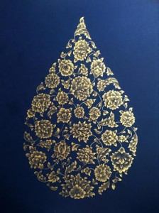 Lubna Zahid - pattern gold on blue